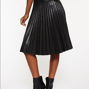 66c414e7448 Charlotte Russe Skirts - Faux Leather Pleated Midi Skirt Size Large
